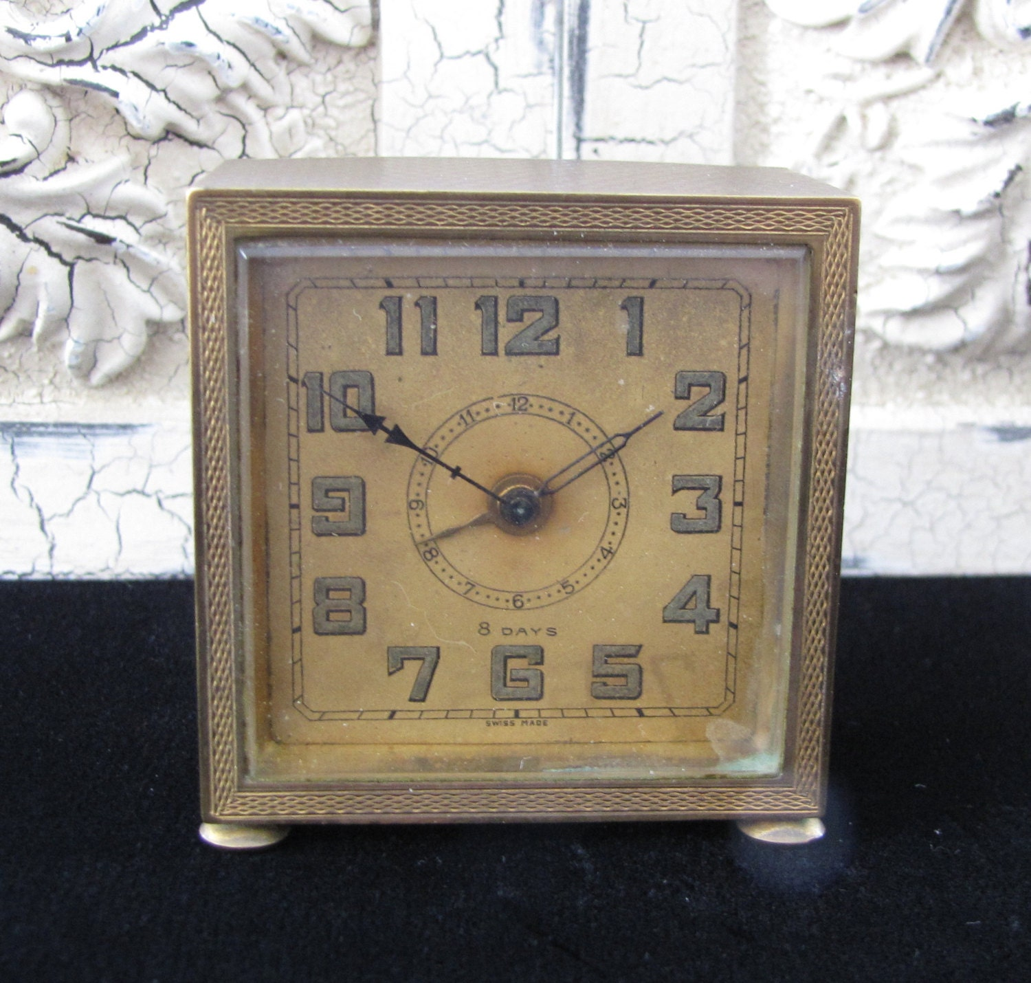 Vintage art deco brass alarm clock Art deco alarm clocks