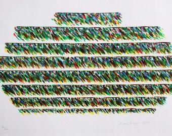 Modernist Italian Lithograph - Piero Dorazio 1981 hand signed