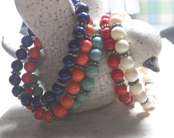 Swarovski Elements Crystal Pearl Bracelets, Bracelet Set, Colored Pearl Bracelet, Womens Jewelry, Everyday Jewelry