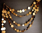 Antique Gold Garland - Caramel Brown - New Years Garland - Christmas Garland - Party Garland - Festive Garland - ArtsDelight