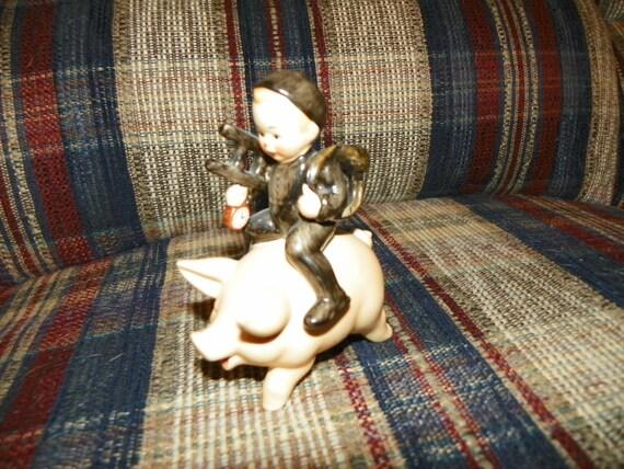 Vintage Goebel Chimney Sweep Figure on His Pig - Spo 61 - Very Nice
