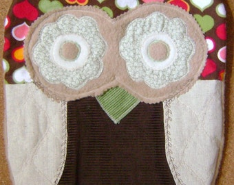 Soft and Cuddly  Sweetheart Owl Pillow w/Wings Perfect  Gift  For Any Occasion