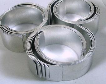 Mixed Dozen Aluminum Cuff Bracelet Blank, Blanks