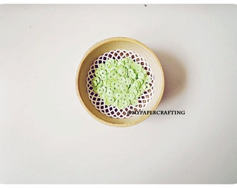 Sequins Glossy - Opaque Pastel Green