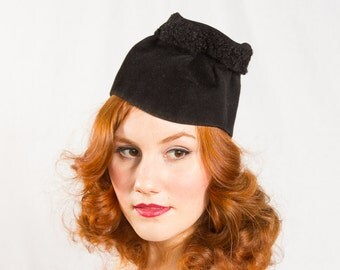 vintage 1930s hat / slouch hat / Betty Co-Ed