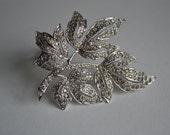 Vintage 1920s Trifari TKF Clip Fur Dress Rhinestone Art Deco Jewelry Fashions