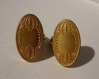 Antique Milgrain Cufflinks Wedding Groom Gift 1910s Downton Abbey Vintage
