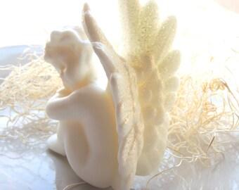 Angel Soap, Cherub Angel Soap, Angels Soap, Wing Soap, Cherubim Soap, Colored in White, Lavender, or Rose