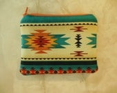 Southwestern Small zipper accessory pouch-Tribal