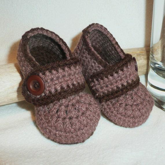 Baby Crochet Patterns Etsy : PATTERN Crochet Baby Slippers