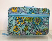 Frisky Mod Yellow Blue and Green Flower Power Hippie Suitcase Paisley Flower Power