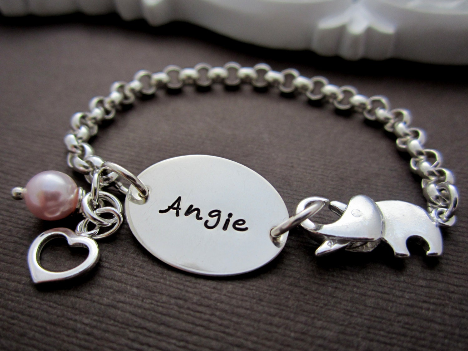 Little girl charm bracelet baby girl bracelets by shinymetals