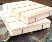 SIXTY Vertical Slotted Cedar Or Pine Natural Wood Spa Soap Dish bulk order of 60 (no discount codes please)