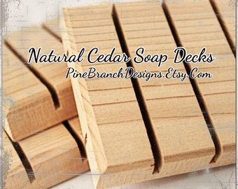 Cedar Soap Decks 50 pieces Wholesale Pricing Standard size