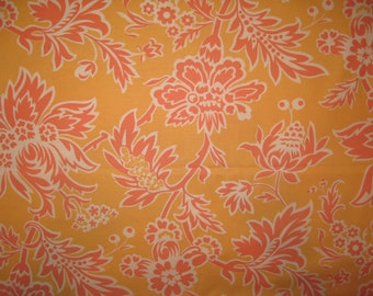 Amy Butler Charm parrot tulip in orange fabric 1/2 yard