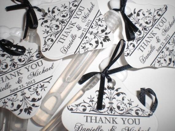 150 Wedding Bubble Tubes - Customized   Set of 150