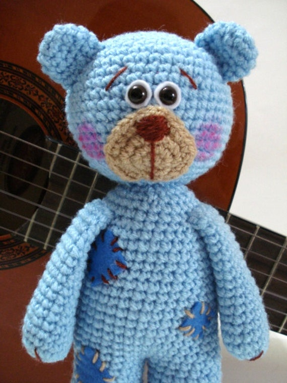Amigurumi Bear Tutorial : Pattern Teddy Bear Pattern Crochet Tutorial Amigurumi by ...