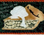 As American As Apple Pie FABRIC POSTCARD