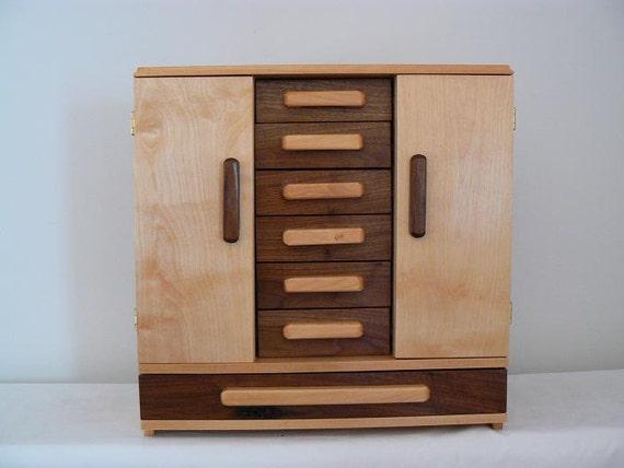 Handmade wooden hannah 39 s jewelry box handcrafted wooden for Handmade wooden jewelry box