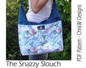 Slouch Handbag Sewing Pattern - PDF Designer handbag by ChrisW Designs