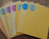 7 Bright and Beautiful Yellow toned Handmade Envelopes