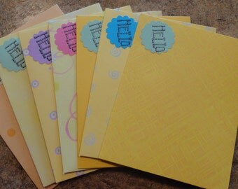 7 Bright and Beautiful Yellow toned Handmade Envelopes