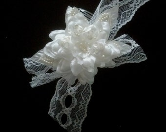 Wedding Hair accessories bridal headpiece pearls, lace, sequence chic hair comb Ready to Ship bride hair flowers