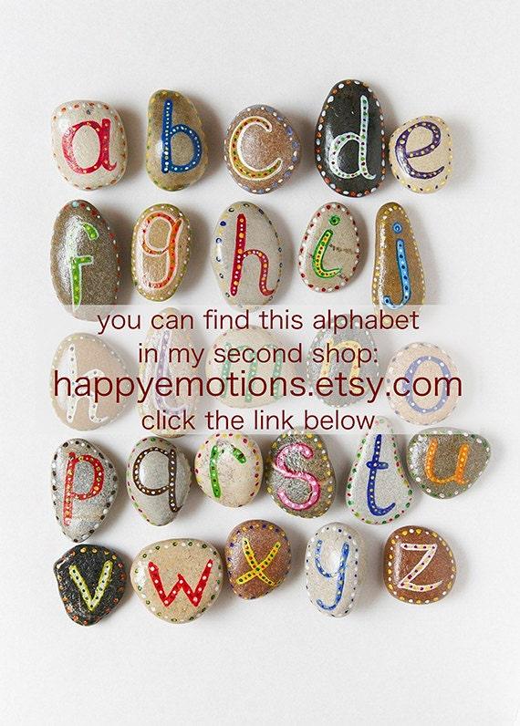 Alphabet - Sea Stones