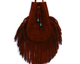 Fringed Deer Leather Bag