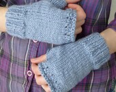Berry Cool, Blueberry Organic Cotton Fingerless Gloves