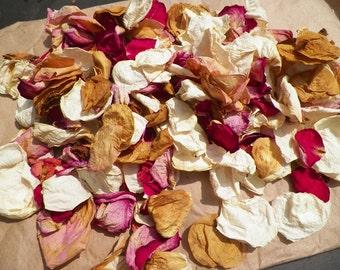 Sale, 6 Cups of Organic Rose Petals, Organic Bath