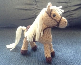 Amigurumi crocheted stuffed horse