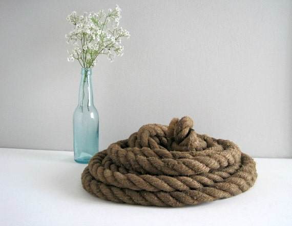 Rustic Old Hemp Rope Nautical Industrial By GoldenDaysAntiques