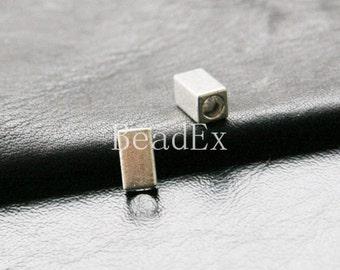 30pcs / Tube / Squar Tube / Spacer / Oxidized Silver / Base Metal / 10x5mm (XA457//A89)
