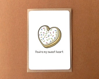 Greeting card - You're my sweetheart