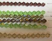 8mm Bicone Crystal ... 7inch strand
