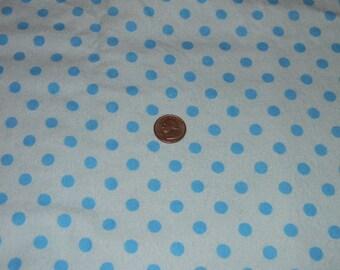 Light Blue and Aqua Dot XL Receiving Blanket