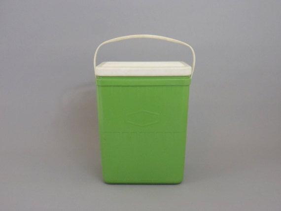 Vintage Cooler lime Green Drink Cooler Chest by HonestJunk on Etsy