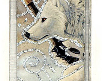 White Wolf Hunter Pendant