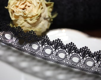 5 Yards = 4.57 Meters of Black Lace trim for lingerie and fashion designs
