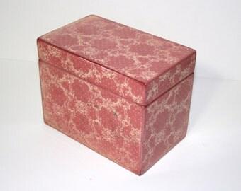 Recipe Box, Vivid Pink Box, Victorian Handmade 4x6 Wooden Wedding Guest Book Box or Recipe Box