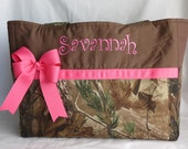 Camo Diaper Bag with bow - Baby Girl - Pink - Monogrammed - Washable - Large - Travel - Made to Order