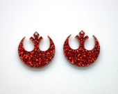Glitter Star Wars Rebel Alliance inspired dangle Earrings