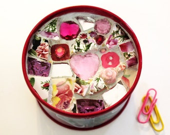 Mosaic-Topped Paper Clip Box