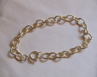 "10"" Silver Chain Anklet With Round Clasp"