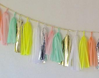Sherbet Obsessed 27 Sparkle & Shine Tissue Tassel Garland