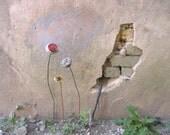 Table Centerpiece, Flower Art, Spring Decor, 3D Metal Art, garden stake