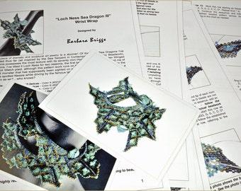 "Tutorial for the ""Loch Ness - Sea Dragon III Wrap"" (inspired www.ContemporaryGeometricBeadwork.com)"