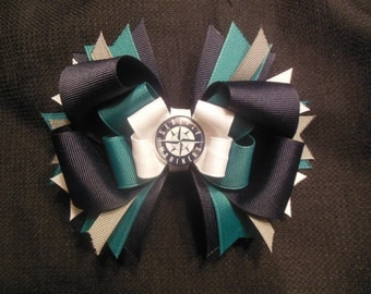 Seattle Mariner's inspired boutique bow