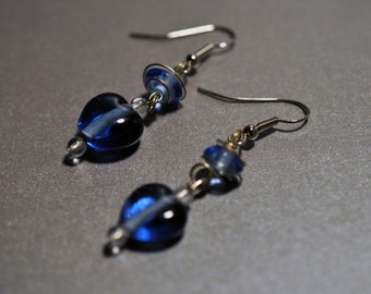 Blue Delight Hook Earrings (00015-100)